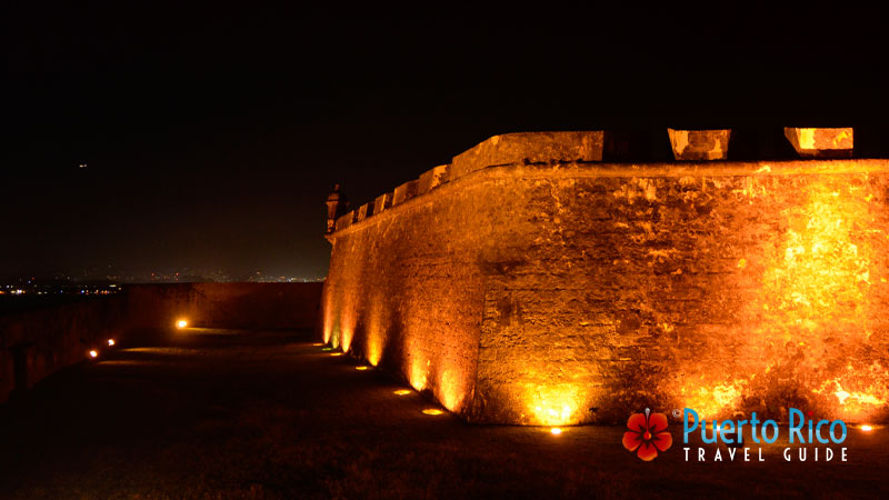 Castillo San Felipe del Morro at Night - Top things to do in Puerto Rico