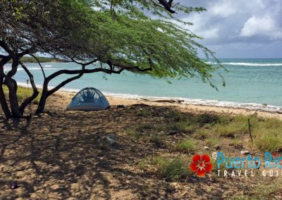 Beaches for camping in Puerto Rico