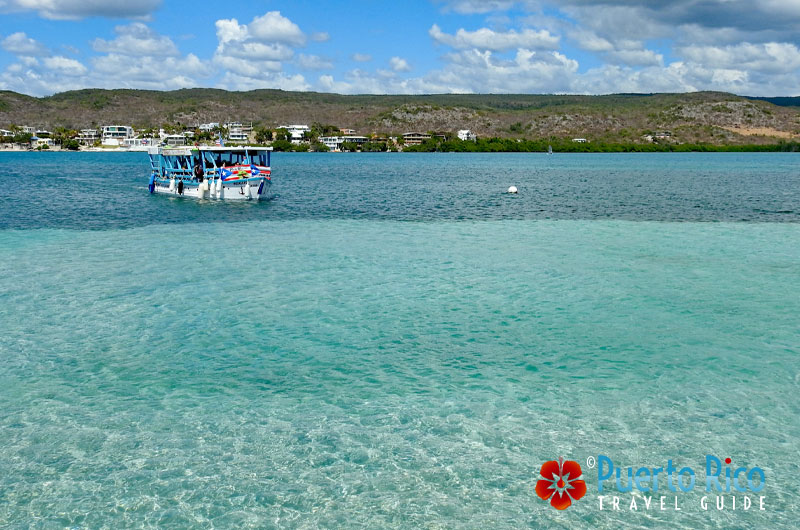 LIttle ferry boat going towards Giligan's Island - Guanica, Puerto Rico