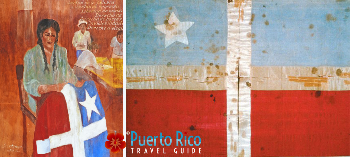 The First Puerto Rico Flag