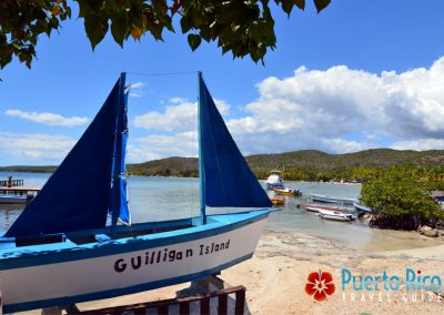 Entrance to the restaurant offering ferry rides to Gilligan's Island, Guanica, Puerto Rico