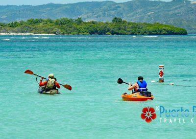 Kayaking in Playa Santa, Guanica, Puerto Rico